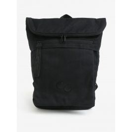 Černý voděodolný rolltop batoh z recyklovaného materiálu pinqponq Klak 18 l