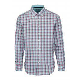 Růžovo-bílá casual fit károvaná košile Fynch-Hatton