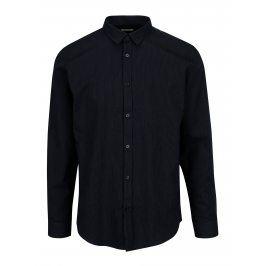 Tmavě modrá vzorovaná slim fit košile Selected Homme One Karter