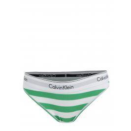 Bílo-zelené pruhované dámské kalhotky Calvin Klein