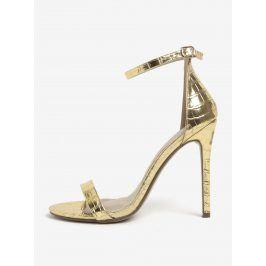 Sandálky s hadím vzorem ve zlaté barvě MISSGUIDED