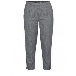 Černo-šedé vzorované zkrácené kalhoty TALLY WEiJL