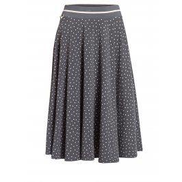 Tmavě šedá puntíkovaná sukně Blutsgeschwister