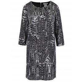 Šedo-černé vzorované šaty s 3/4 rukávem Rich & Royal