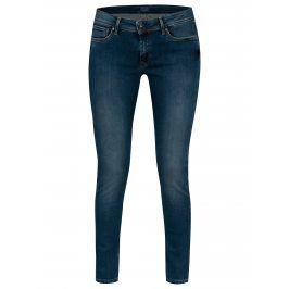 Tmavě modré dámské super skinny džíny s vyšisovaným efektem Pepe Jeans Lola