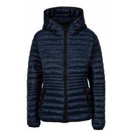 Tmavě modrá prošívaná bunda s kapucí Yest
