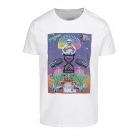 Bílé pánské tričko s potiskem ZOOT Original Koláž