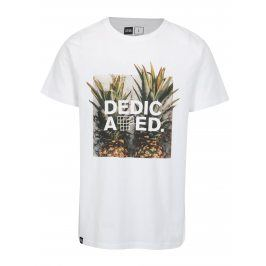 Bílé tričko s potiskem Dedicated Pineapples