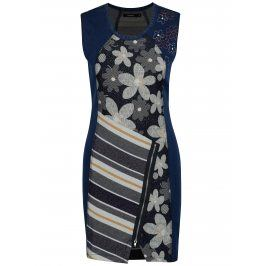 Tmavě modré džínové šaty Desigual No Sleep