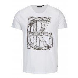 Bílé pánské tričko s potiskem Broadway Bennie