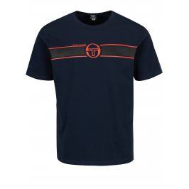 Tmavě modré pánské tričko s potiskem Sergio Tacchini Laufen