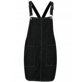 Černé džínové šaty s laclem MISSGUIDED