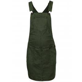 Tmavě zelená těhotenská sukně s laclem Mama.licious Zeal