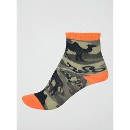 Khaki maskáčové klučičí ponožky s afrikou Sock It to Me Animal Camo