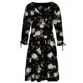 Černé květované šaty se zavazováním Dorothy Perkins