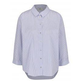 Krémovo-modrá košile s pruhy ONLY Simey