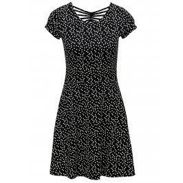 Černo-bílé puntíkované šaty s krátkým rukávem TALLY WEiJL