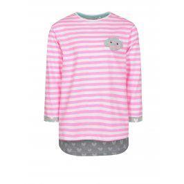 Bílo-růžové holčičí tričko s nášivkou 5.10.15.