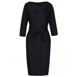 Tmavě modré dámské šaty s 3/4 rukávem Pietro Filipi