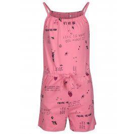 Růžový holčičí vzorovaný overal name it Vigga
