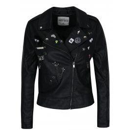 Černý koženkový křivák s odepínacími plastickými ozdobami TALLY WEiJL