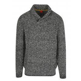 Černo-bílý pánský žíhaný svetr s.Oliver