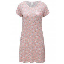 Růžová vzorovaná noční košile M&Co
