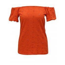 Oranžové tričko s odhalenými rameny Dorothy Perkins