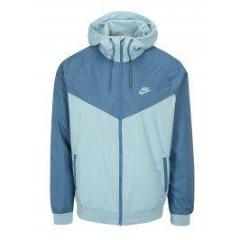 Světle modrá pánská funkční bunda s kapucí Nike