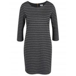 Černo-šedé pruhované šaty s 3/4 rukávem VILA Tinny