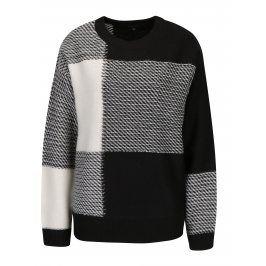 Černo-bílý dámský svetr s příměsí vlny Broadway Neta