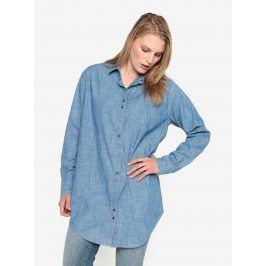 Modrá dlouhá džínová košile Selected Femme Brani