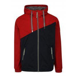 Modro-červená pánská bunda s kapucí Ragwear Nugget