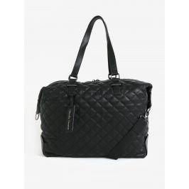 Černá prošívaná cestovní taška Claudia Canova Anya