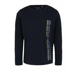 Tmavě modré klučičí tričko s dlouhým rukávem name it Victor