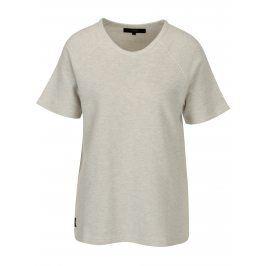 Béžovo-šedé dámské vzorované tričko Makia