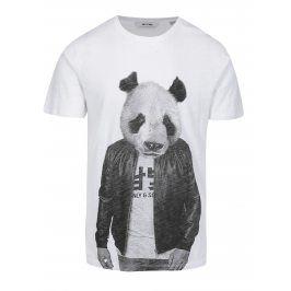 Bílé tričko s potiskem ONLY & SONS Simon
