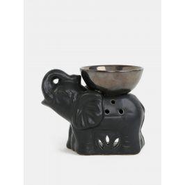 Černá aromalampa ve tvaru slona Dakls