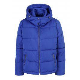 Modrá prošívaná bunda s kapucí Miss Selfridge
