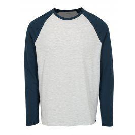 Šedo-modré žíhané regular fit tričko Burton Menswear London