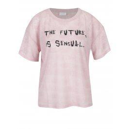 Růžové tričko s potiskem VILA Utti