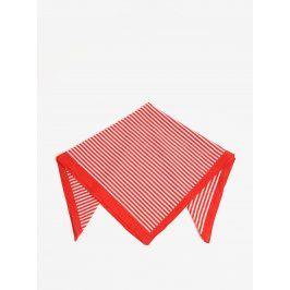 Bílo-červený pruhovaný šátek Pieces Molly