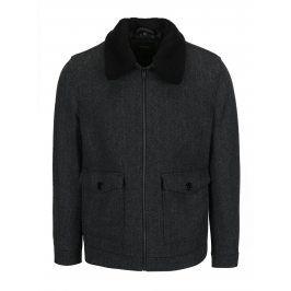 Šedá vzorovaná bunda s příměsí vlny Burton Menswear London