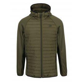 Zelená prošívaná bunda s kapucí Jack & Jones Multi Quilted