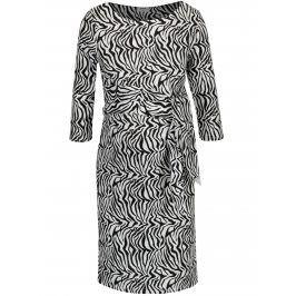 Černo-bílé těhotenské vzorované šaty Mama.licious Zebra