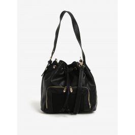 Černá vaková kabelka s detaily ve zlaté barvě Bessie London