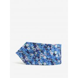 Modrá květovaná kravata Burton Menswear London
