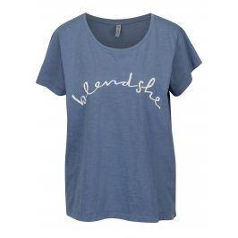 Modré tričko s potiskem Blendshe Cute