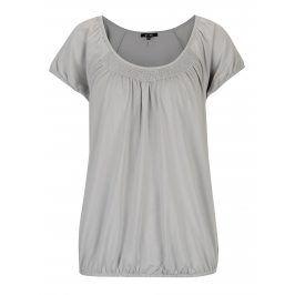 Světle šedé tričko s kulatým výstřihem Yest