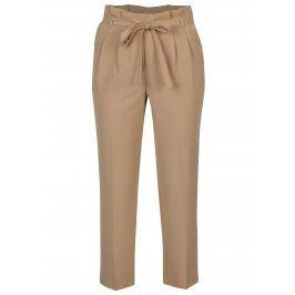 Béžové zkrácené kalhoty Miss Selfridge